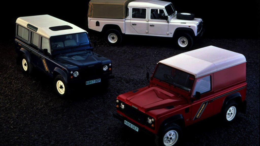 Land Rover Defender 90, 110 and 130